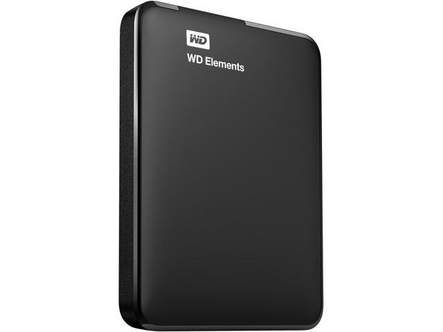 Жесткий диск внешний 2.5 1Tb WD  Elements Portable, Black, USB 3.0  (WDBUZG0010BBK-WESN)