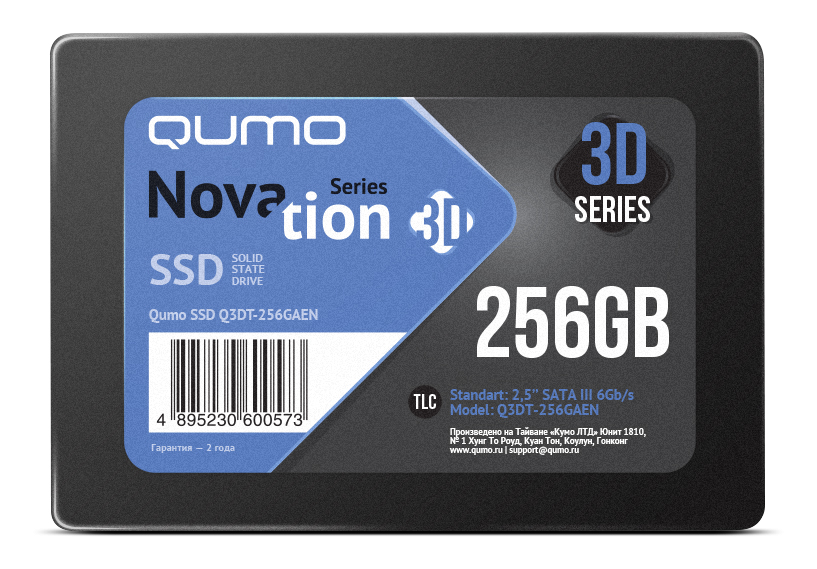 Диск SSD 2.5 256GB QUMO QM Novation  (Q3DT-256GAEN)