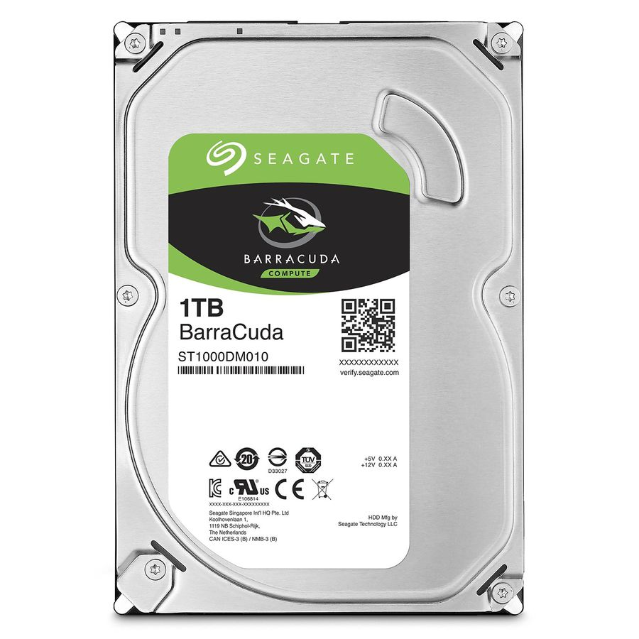 Жесткий диск 1 Tb Seagate ST1000DM010 BarraCuda 64Mb SATA 6Gb/s