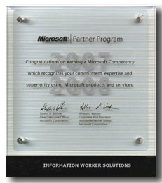 Microsoft - Information Worker Solutions (20.02.2007 - 29.02.2008)