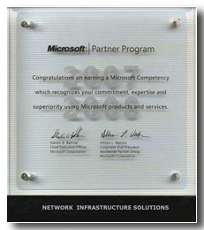 Microsoft - Networking Infrastructure Solutions (20.02.2007 - 29.02.2008)